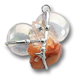 2nd Sacral Chakra - Creative Fire Crystal Amulet Pendant