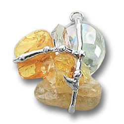 3rd Solar Plexus Brilliant Sun Crystal Amulet Pendant