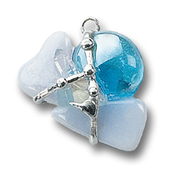 5th Throat Chakra - Eternal Sky Crystal Amulet Pendant