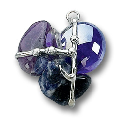 6th Third Eye Chakra - Awakened Insight Crystal Amulet Pendant