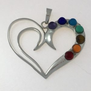 Heart Shaped Chakra Pendant
