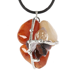 Phoenix Rising Crystal Ascension Amulet Pendant