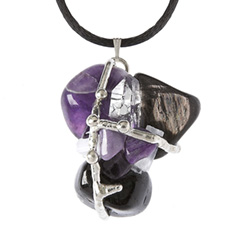 Violet Flame Crystal Ascension Amulet Pendant