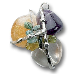 Prosperity Crystal Transformational Amulet Pendant