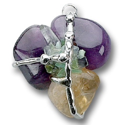Well-being Crystal Transformational Amulet Pendant