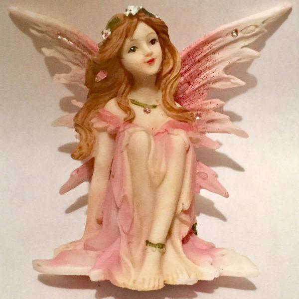 Pink Sitting Fairy